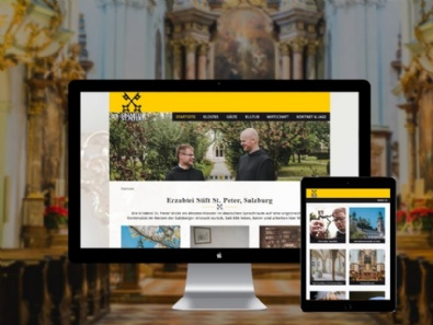 Website Erzabtei Stift St. Peter