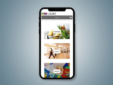 Relaunch Website Laube GmbH