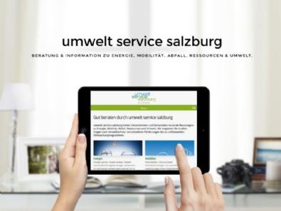 Website umwelt service salzburg, mobilfreundlich im Responsive-Design  (Relaunch)