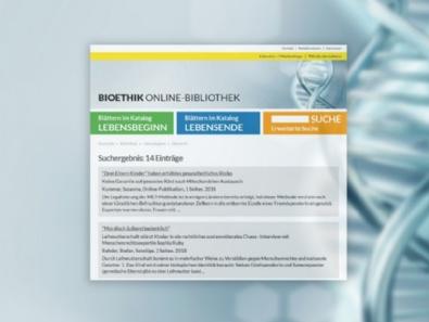 Website Bioethik Online-Bibliothek