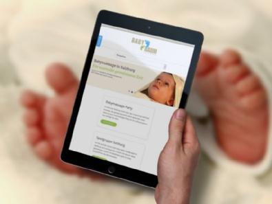 Website BabyRaum: mobiloptimierte Website (Responsive Design)