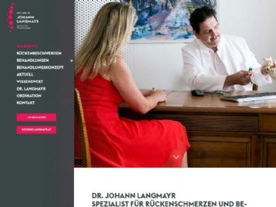 "Website-Relaunch ""Wirbelsäulenzentrum Dr. Langmayr"""